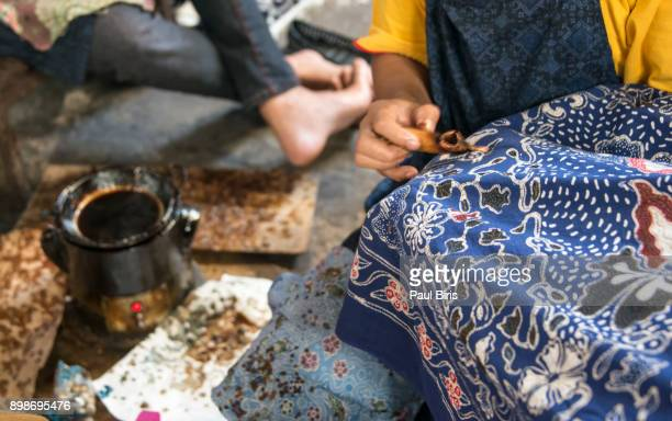 handmade batik, yogyakarta , java, indonesia - yogyakarta stock photos and pictures