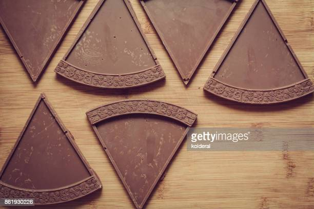 Handmade chocolate bars being prepared by professional chocolatier