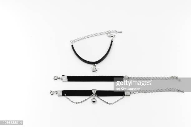 handmade choker necklaces - short necklace stock pictures, royalty-free photos & images