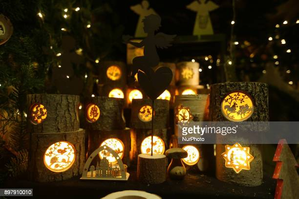 Handmade christmas decorations Last Day of the Christmas Market at quotChinesischer Turmquot in Munich on December 23 2017
