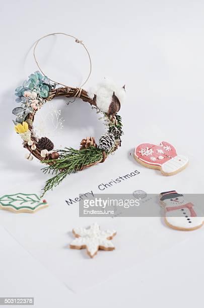 Handmade Christmas Wreath and Royal Icing Cookies