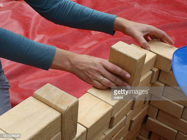 handmade construction build with wood - foundation make up stock pictures, royalty-free photos & images