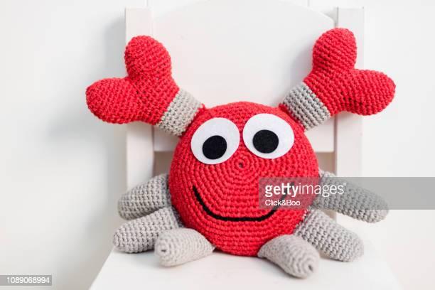 Handmade crocheted crab (amigurumi)