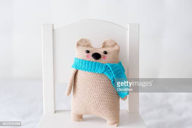 Handmade crocheted teddy bear