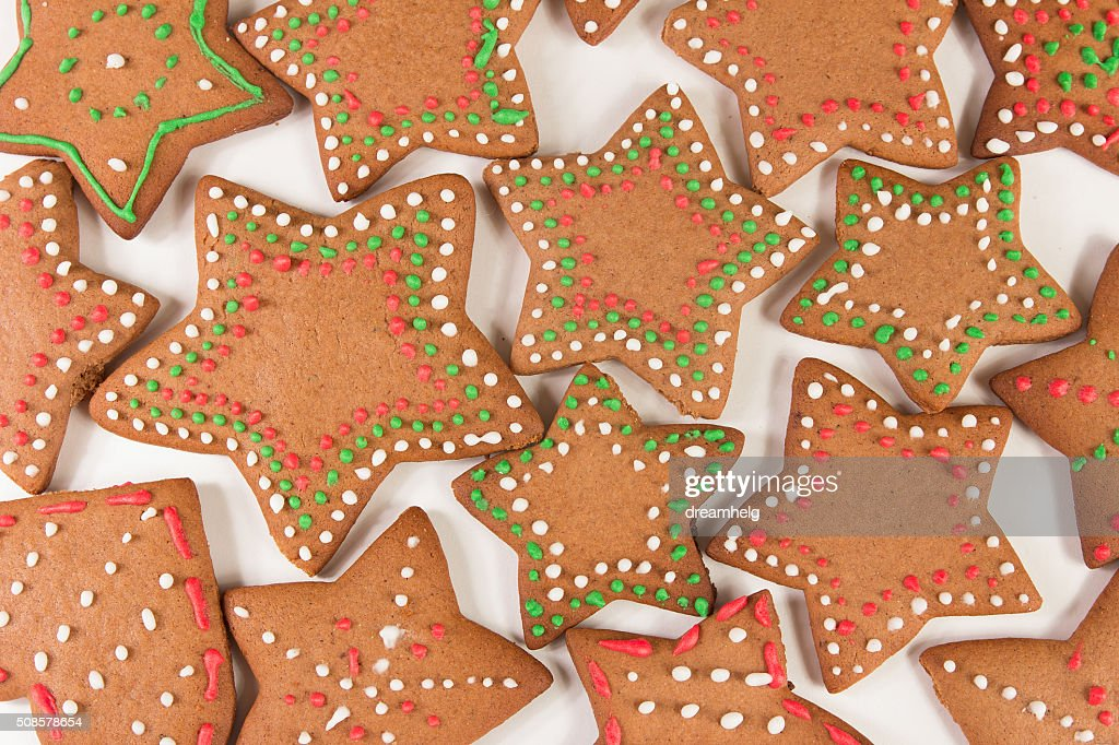 Handmade decorated ginger cookies : Stockfoto
