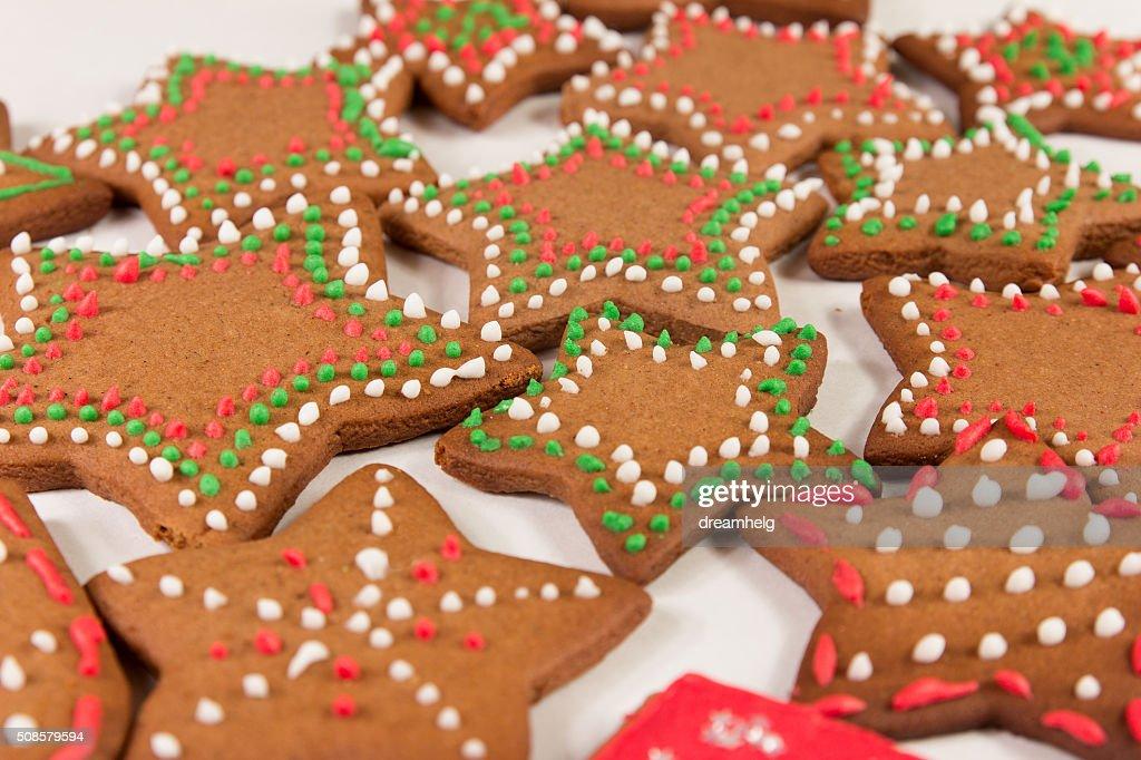Handmade decorated ginger cookies : Stock Photo