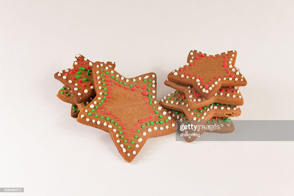 Handmade decorated ginger cookies : Stock Photo