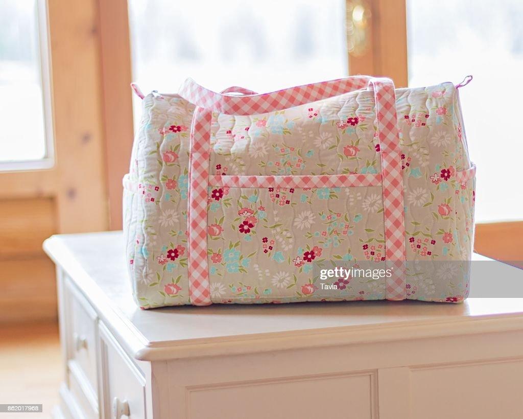 611edd9bfb4c Handmade Duffle Bag Stock Photo - Getty Images