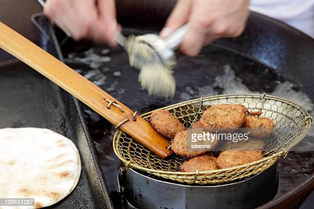 Handgefertigte Falafel