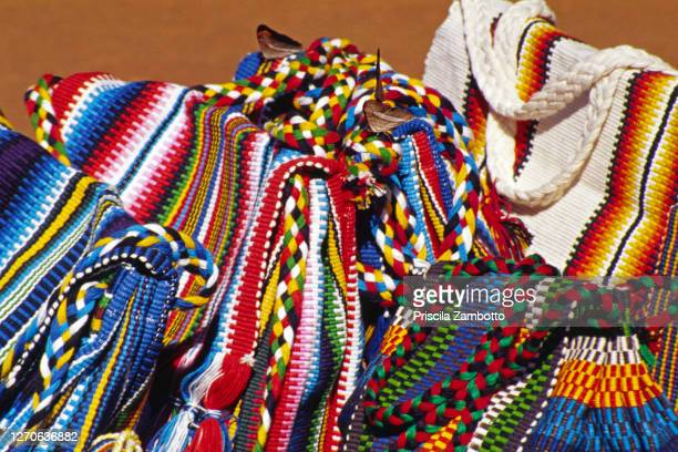 handmade indigenous bags - cultura argentina imagens e fotografias de stock