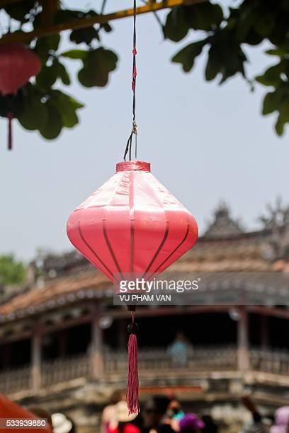 handmade lantern in hoi an old quarter, central vietnam - cultura vietnamita foto e immagini stock