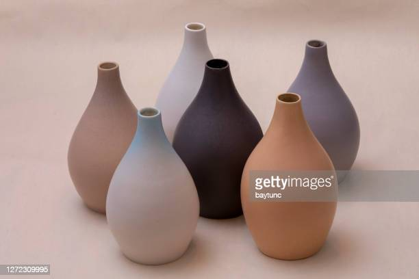 handmade minimal ceramics - terracotta stock pictures, royalty-free photos & images