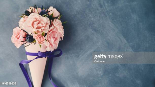 handmade rose bouquet for mother's day - mother's day stock pictures, royalty-free photos & images