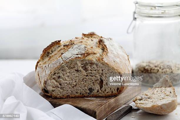 handmade rustic bread - home made stock pictures, royalty-free photos & images