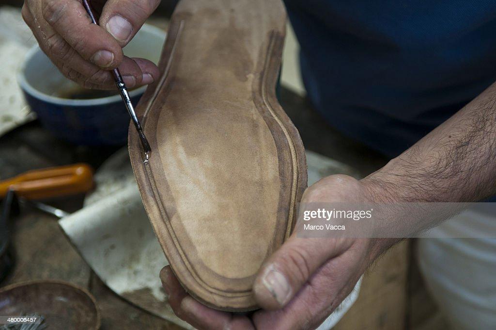 Handmade shoes : Stock Photo