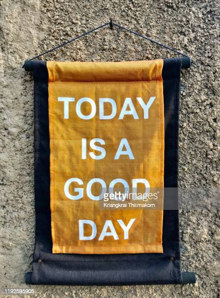 handmade sign: today is a good day! - today single word stock pictures, royalty-free photos & images