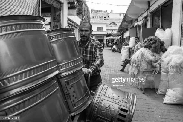 Handmade Stove Seller On The Street Of Midyat,Turkey