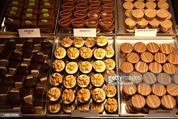 Handmade Swiss chocolates for sale.
