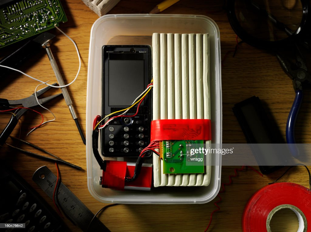 Handmade Terrorist Bomb : Stock Photo