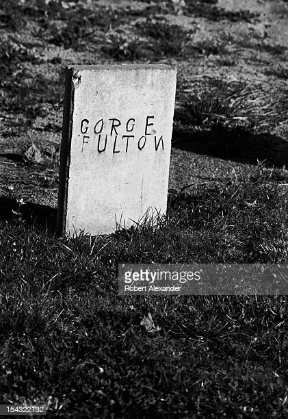 A handmade tombstone in the corner of a country church cemetery in the Appalachian town of Abingdon in Southwest Virginia 5104602RA_Appalachia60jpg