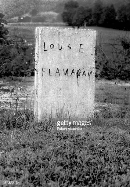A handmade tombstone in the corner of a country church cemetery in the Appalachian town of Abingdon in Southwest Virginia 5104602RA_Appalachia59jpg