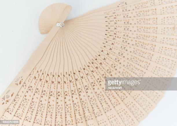 Handmade wooden fan