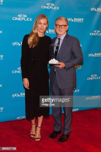 'A Handmaid's Tale' Actor Yvonne Strahavski and Executive Producer Warren Littlefield receive the Program of the Year Award at the Rockie Awards Gala...