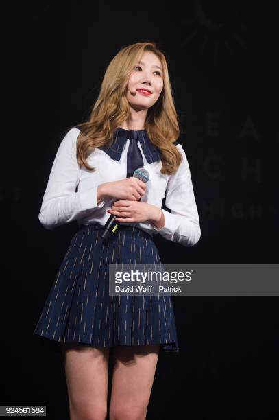 Handong from Dreamcatcher performs at Le Trianon on February 25 2018 in Paris France