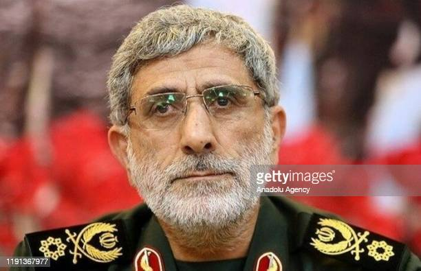 A handout photo shows Ismail Qaani after he has been appointed as commander of the Iranian Revolutionary Guards' Quds Forces after a drone strike...