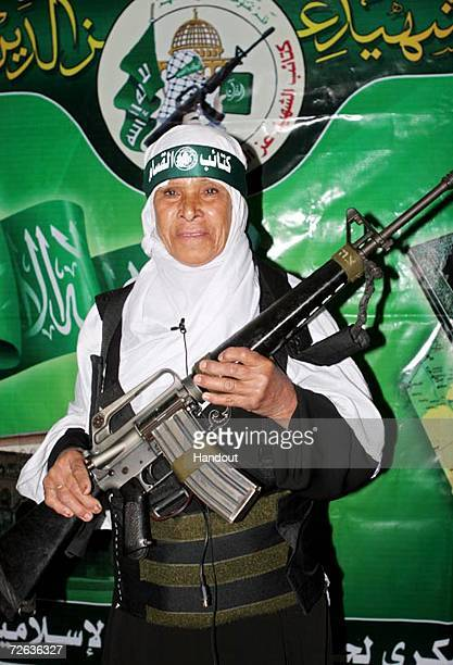 A handout picture released by the Hamas media office shows the 57yearold mother suicide bomber Fatima Omar Mahmud alNajar from the town of Jabalia...