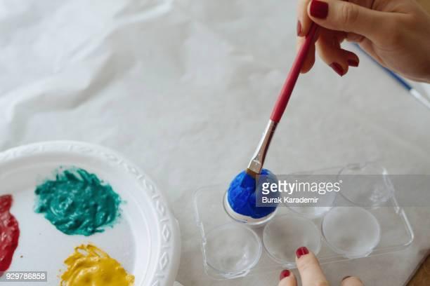 DIY handpainted easter eggs