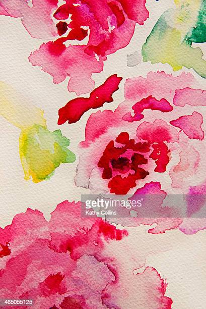 Handpainted watercolour flowers