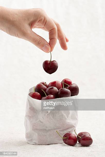 Handpicked fresh cherries