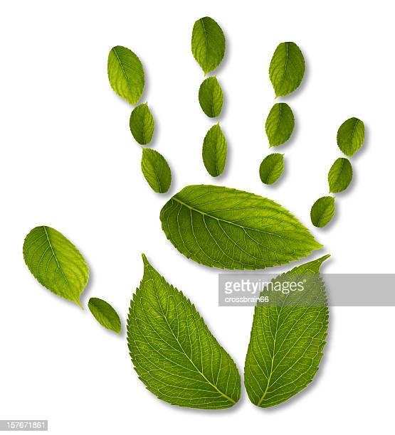 handprint - ecological impact concept