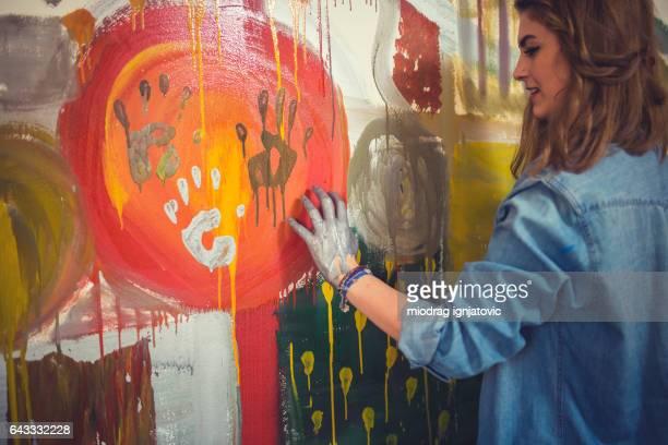 Handprinting artist