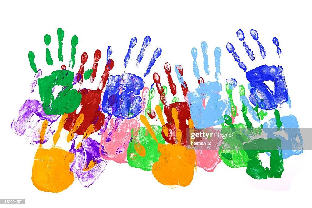 Handprints : Stock Photo