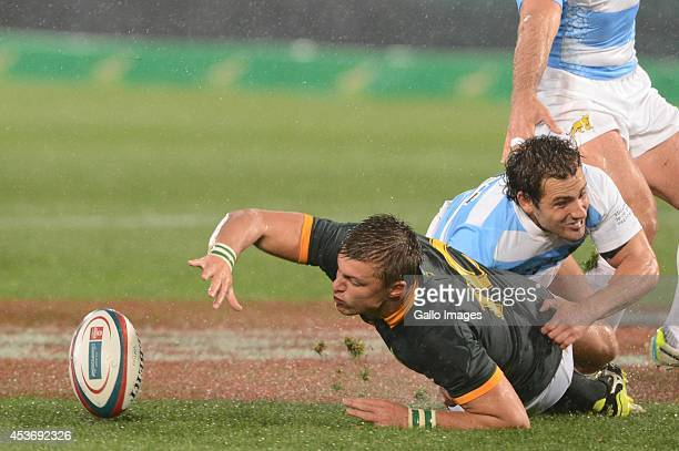 Handre Pollard of the Springboks during The Castle Rugby Championship match between South Africa and Argentina at Loftus Versfeld on August 16 2014...