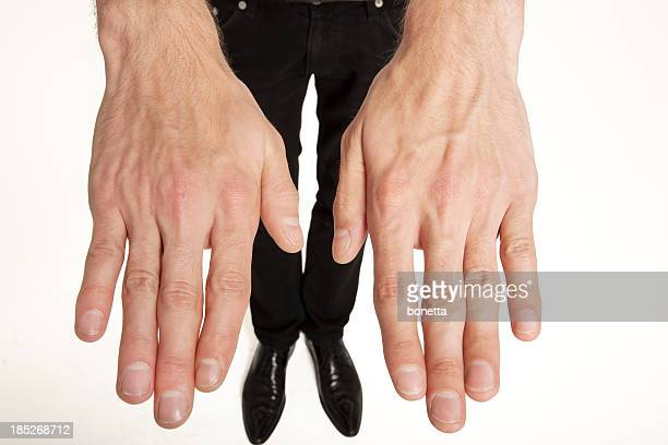 hands and feet on white background - big foot stock photos and pictures