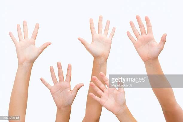 Hands cheering