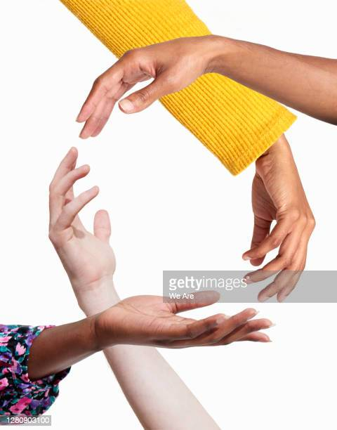 hands forming a circle - diversity stock pictures, royalty-free photos & images