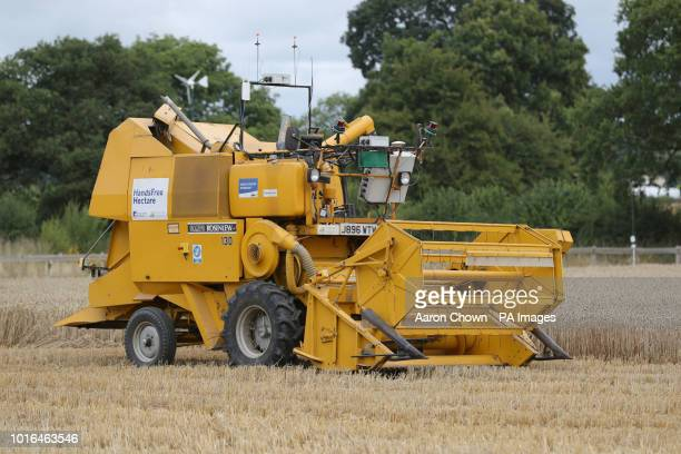 Hands Free Hectare an autonomous harvester which was seen by Labour leader Jeremy Corbyn during his visit to Harper Adams University Newport Corbyn...