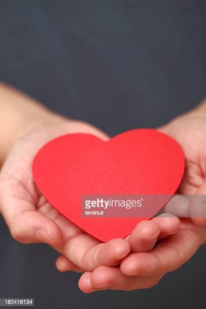 Hände, die ein Herz