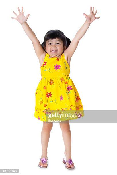 hands high - cut out dress stock pictures, royalty-free photos & images