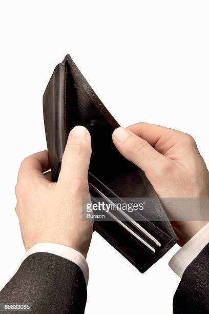 Hands Holding an empty Wallet