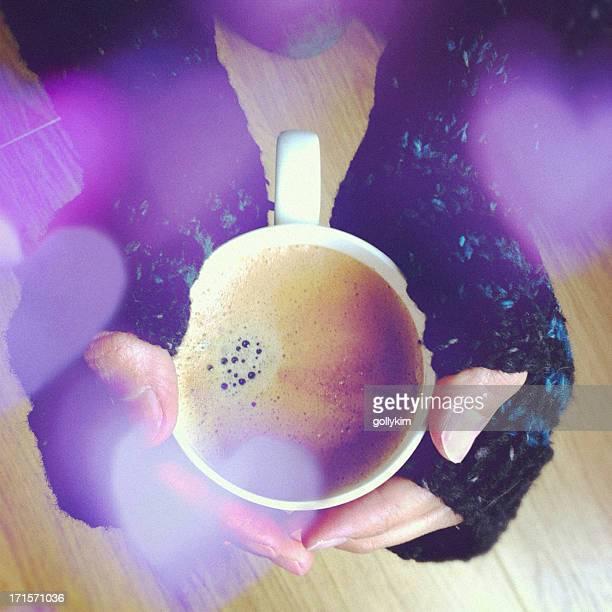 Hands holding Coffee Mug, Keeping Warm