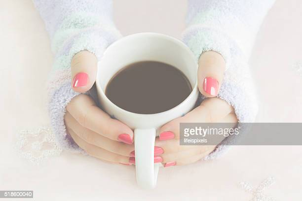 hands holding cup of coffee - lifeispixels stock pictures, royalty-free photos & images