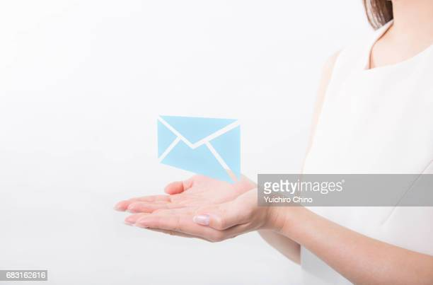 Hands holding email
