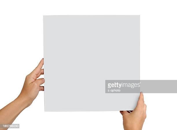 Hand Holding leeren Brett (Klicken Sie hier, um weitere Informationen)