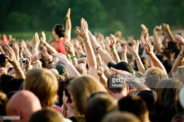 hands in a rock concert