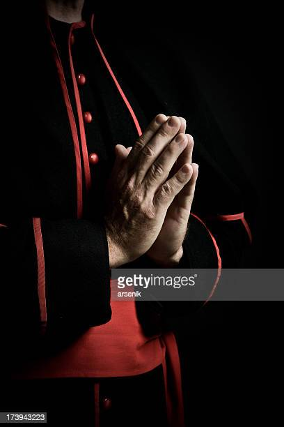 hands in prayer - priest stock pictures, royalty-free photos & images